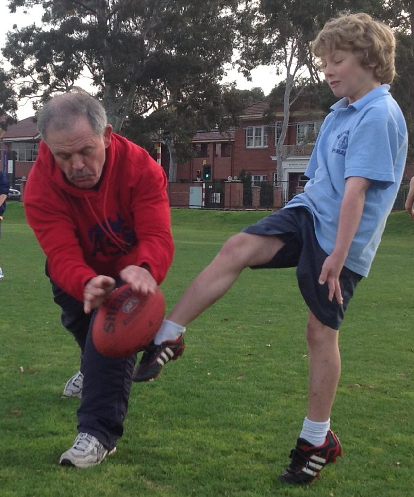 Action at an ASC footy camp