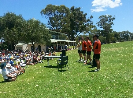 Perth Scorchers players at the ASC cricket camp