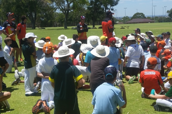 Michael Carberry, Justin Langer and Scorchers