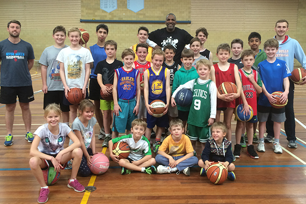 Bruce Bolden at the ASC Basketball Camp in Sydney
