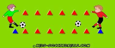 passing-between-cones-soccer-drill