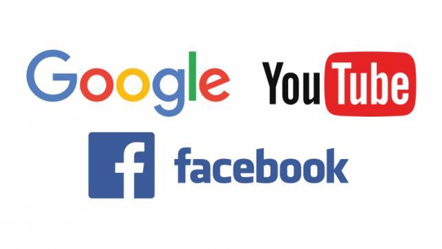 YouTube, Facebook & Google